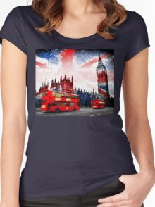 England  London  Women's Fitted Scoop T-Shirt