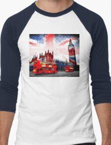 England  London  Men's Baseball ¾ T-Shirt