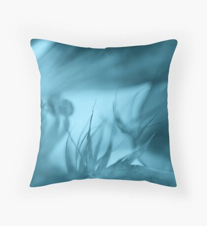 inferno in blue Throw Pillow