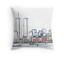 NYC Twin Towers Throw Pillow
