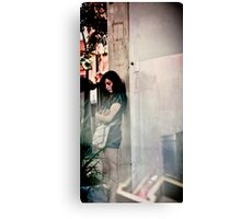 The most sad girl in New Year 2012 Canvas Print