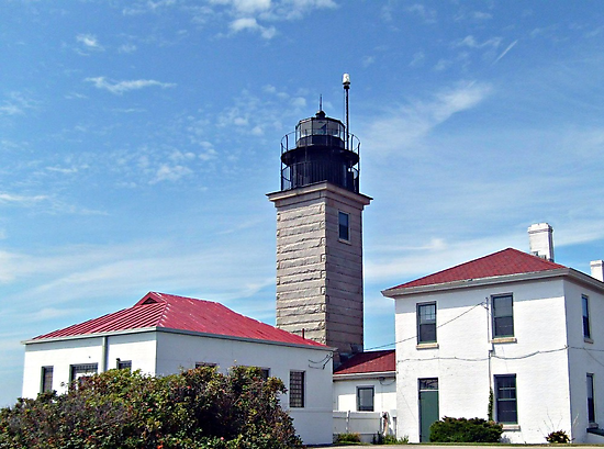 Beavertail Lighthouse, Conanicut Island, Narragansett Bay, Rhode Island by Jane Neill-Hancock