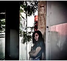 The most sad girl in New Year 2012 II Photographic Print
