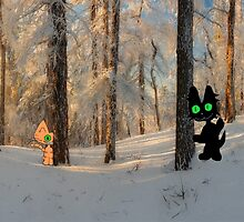 Cats Play Hide And Seek  by JohnsCatzz
