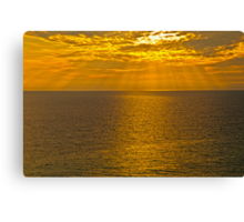 GOD'S RAYS SHINING DOWN ON THE GULF Canvas Print