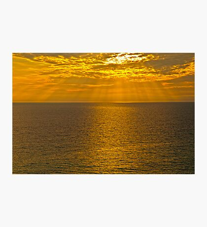 GOD'S RAYS SHINING DOWN ON THE GULF Photographic Print