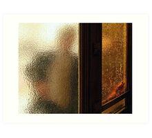Man Through Glass Art Print
