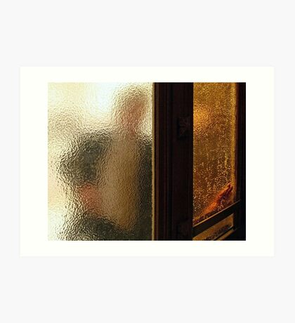 Man Through Glass Art Print