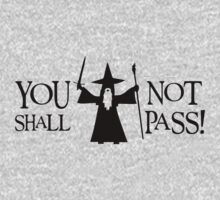 Gandalf Black You Shall Not Pass LOTR Lord Of The Rings Kids Clothes