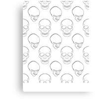 Repeated Skulls Canvas Print