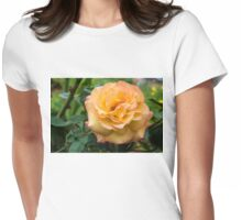 Early Summer Blooms Impressions - Elegant Peach Rose Womens Fitted T-Shirt