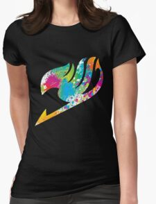 Paint Fairy Tail Logo Womens Fitted T-Shirt