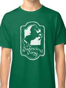 White Prancing Pony  Classic T-Shirt