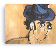 wonky man with hat Canvas Print