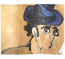 wonky man with hat Poster