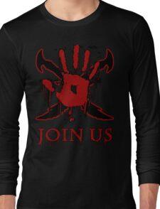 "***AWESOME*** Dark Brotherhood ""JOIN US"" Long Sleeve T-Shirt"