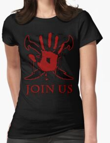 "***AWESOME*** Dark Brotherhood ""JOIN US"" Womens Fitted T-Shirt"