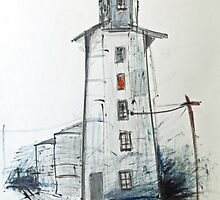 Light on in the silo  by ROSEMARY EAGLE