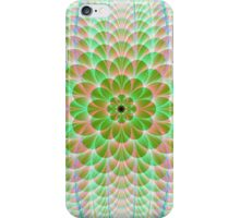 Floral Orb in Pale Green iPhone Case/Skin