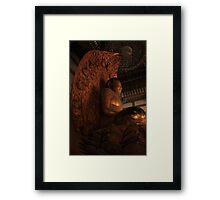 Lotus Buddha Framed Print