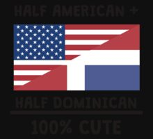 Half Dominican 100% Cute One Piece - Short Sleeve