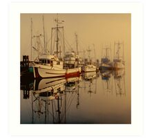 Misty Moorings Art Print