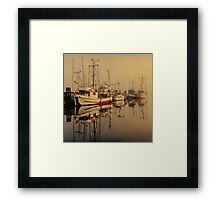 Misty Moorings Framed Print