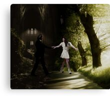 You brought me out of the darkness and into the light. Canvas Print