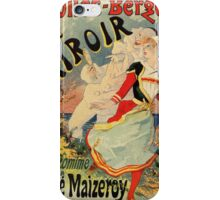 French belle epoque mime theatre advertising iPhone Case/Skin