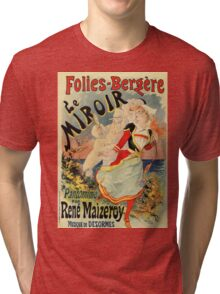 French belle epoque mime theatre advertising Tri-blend T-Shirt