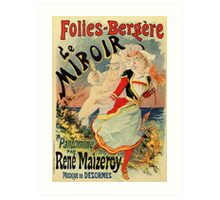 French belle epoque mime theatre advertising Art Print