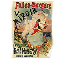 French belle epoque mime theatre advertising Poster