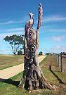Peacock tree sculpture by Suziemgw