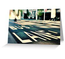 Bus Lane Greeting Card