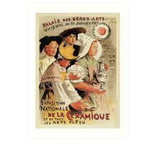 French belle epoque pottery expo advertising Art Print