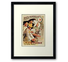 French belle epoque pottery expo advertising Framed Print