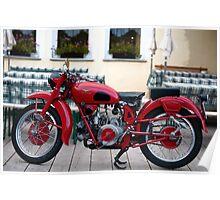 Moto Guzzi, Arraba, Dolomite Mountains, Italy Poster