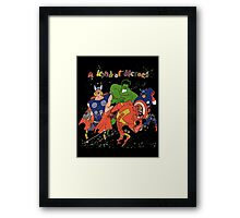 A kind of heroes. Framed Print