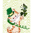 Kitty on St.Patrick's day Iphone case (1030 Views) by aldona