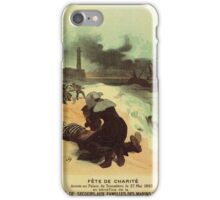 1893 French drowned sailors charity advertising iPhone Case/Skin