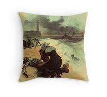 1893 French drowned sailors charity advertising Throw Pillow