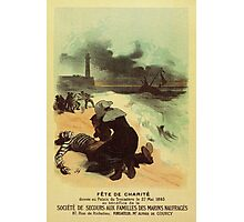 1893 French drowned sailors charity advertising Photographic Print