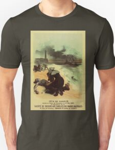 1893 French drowned sailors charity advertising Unisex T-Shirt