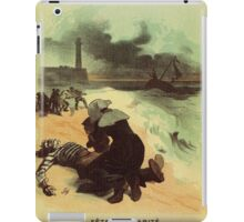 1893 French drowned sailors charity advertising iPad Case/Skin