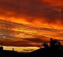 Sunset from my backyard by PhotosByG