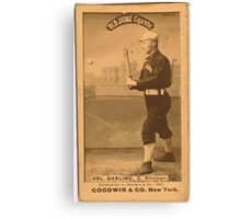 Benjamin K Edwards Collection Dell Darling Chicago White Stockings baseball card portrait 002 Canvas Print