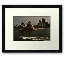 Golden Glow Sydney Opera House #2 Framed Print