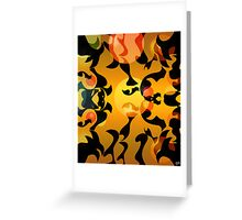Black Paper Abstract: Tadpoles Greeting Card