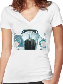 Oldtimer Car Women's Fitted V-Neck T-Shirt