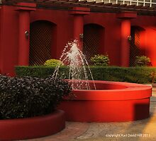 red fountain by Karl David Hill